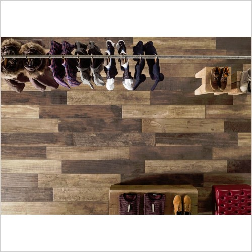 Park Street Bathrooms - Nordic Brown Wood Effect Tile 1215 x 200mm