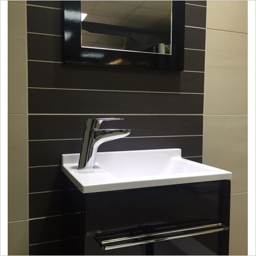 Park Street Bathrooms - Nimbus Dark Brown Decor Tile 595 x 295mm