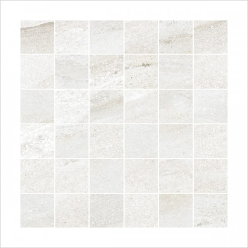 Park Street Bathrooms - Storm Blanco Mosaic Tile 300 x 300mm