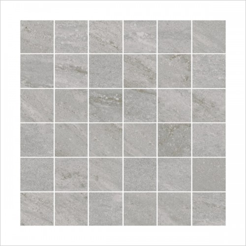 Park Street Bathrooms - Storm Silver Mosaic Tile 300 x 300mm