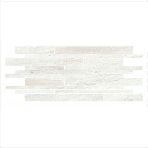 Park Street Bathrooms - Storm Blanco Muro Decor Tile 640 x 300mm