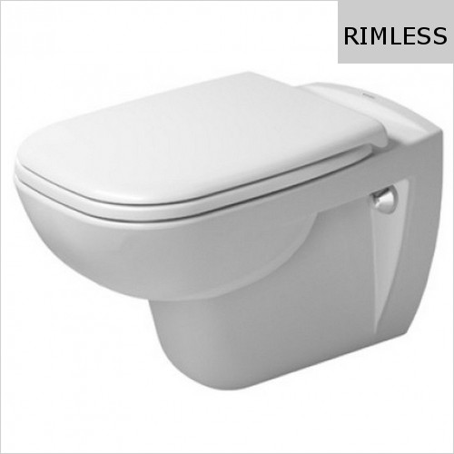 Duravit - D-Code Wall Mounted Toilet Rimless