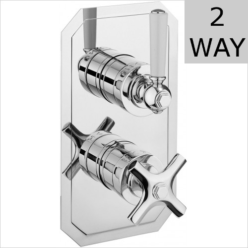 Crosswater - Waldorf Thermostatic Shower Valve - Slim Lever
