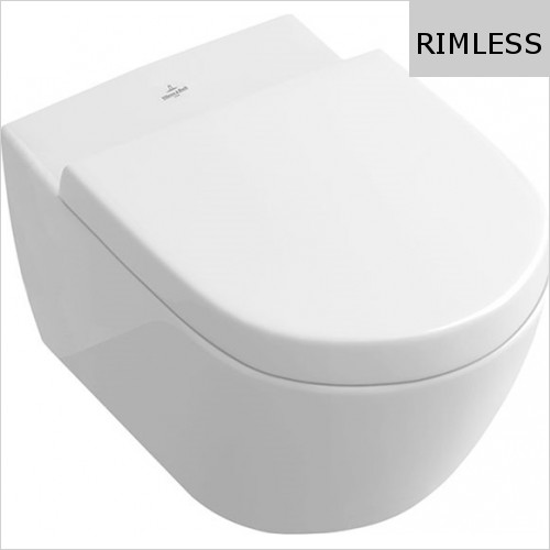 Villeroy & Boch - Subway 2.0 Washdown WC, Rimless For ViSeat 370 x 560mm