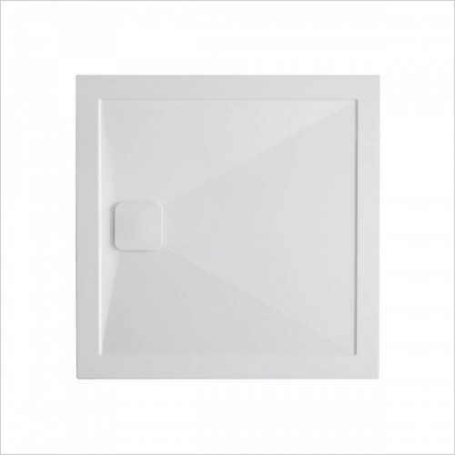 Crosswater - 25mm Kai Stone Resin Square Shower Tray 800 x 800mm