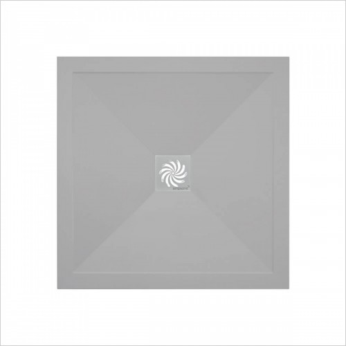 Crosswater - 25mm Storm Grey Stone Resin Square Shower Tray 800 x 800mm
