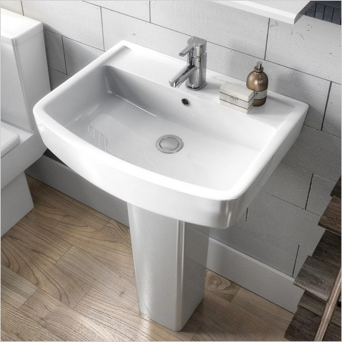 Park Street Bathrooms - Metro Square 520mm Basin & Pedestal