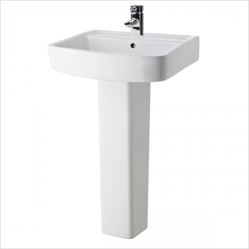 Park Street Bathrooms - Metro Square 600mm Basin & Pedestal