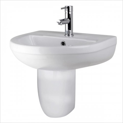 Park Street Bathrooms - Metro Round 500mm Basin & Semi Pedestal