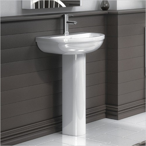Park Street Bathrooms - Metro Round 500mm Basin & Pedestal