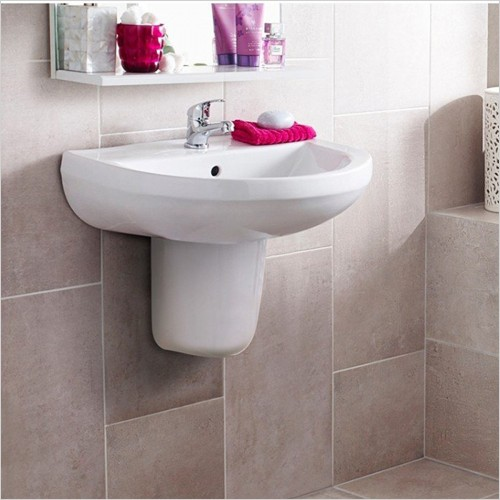 Park Street Bathrooms - Charlotte 550mm Basin & Semi Pedestal