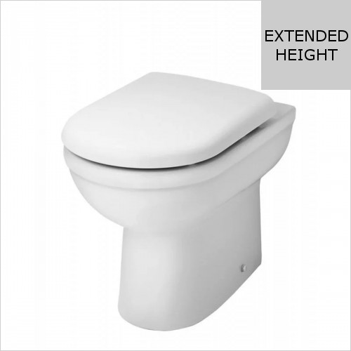 Park Street Bathrooms - Charlotte Comfort Height Back To Wall WC & Soft Close Seat