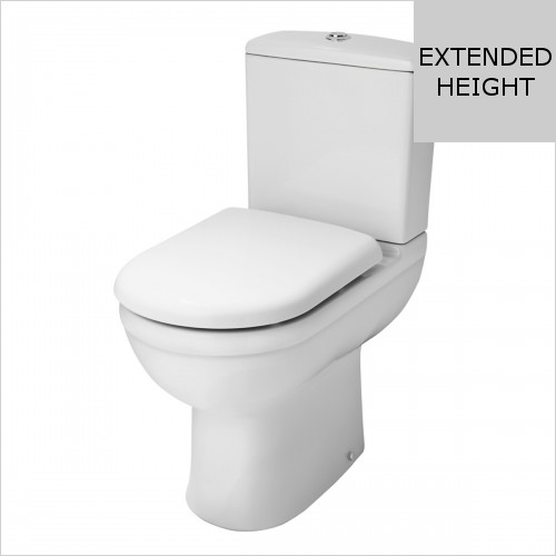 Park Street Bathrooms - Charlotte Comfort Height Close Coupled WC & Soft Close Seat
