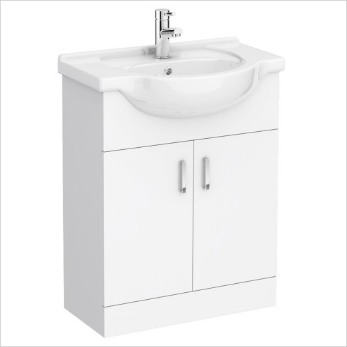 Park Street Bathrooms - Charlotte 650mm Floorstanding Vanity Unit & Basin