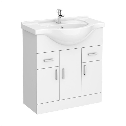 Park Street Bathrooms - Charlotte 750mm Floorstanding Vanity Unit & Basin