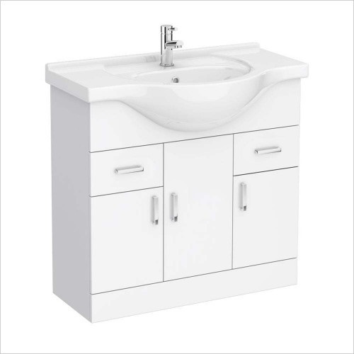Park Street Bathrooms - Charlotte 850mm Floorstanding Vanity Unit & Basin