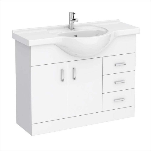 Park Street Bathrooms - Charlotte 1050mm Floorstanding Vanity Unit & Basin