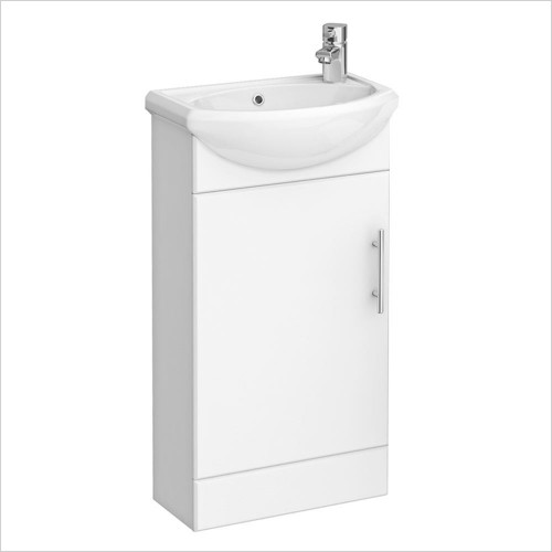 Park Street Bathrooms - Charlotte 420mm Floorstanding Cloakroom Unit & Basin