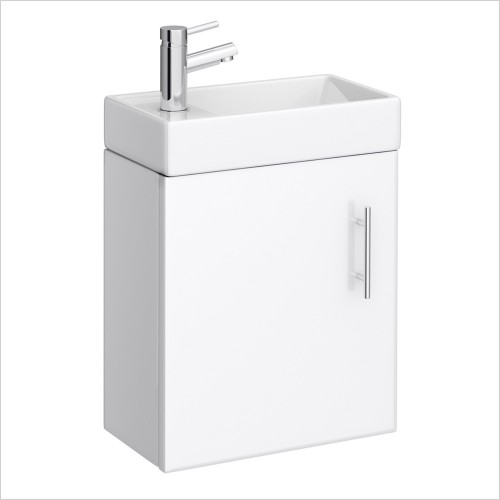 Park Street Bathrooms - Metro 400mm Cloakroom Wall Hung Vanity Unit & Basin