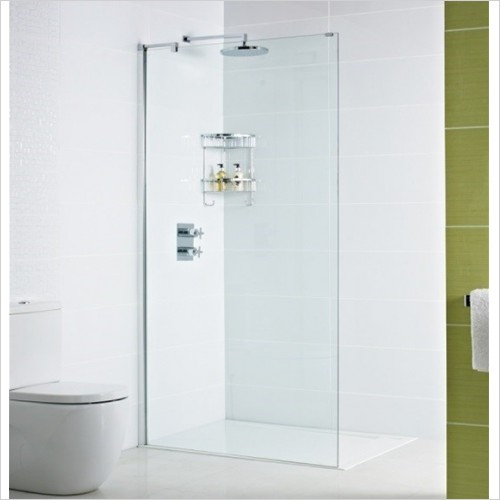 Roman Showers - Decem Wet Room Panel With Exposed Profile 800mm
