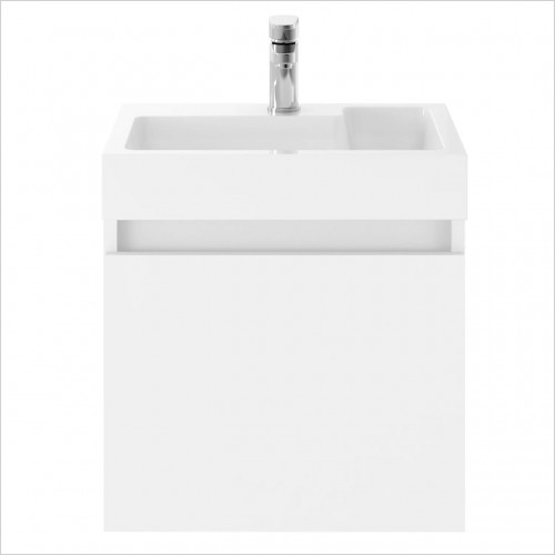 Park Street Bathrooms - Serene 500mm Wall Hung Vanity Unit & Basin