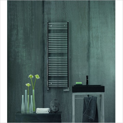 Zehnder - Aura Straight Chrome Towel Rail 607 x 400mm
