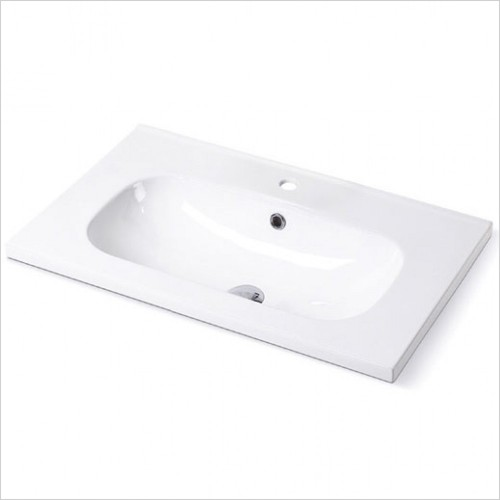 Imex - Alma Round Fine Ceramic Basin For 750mm Vanity Unit