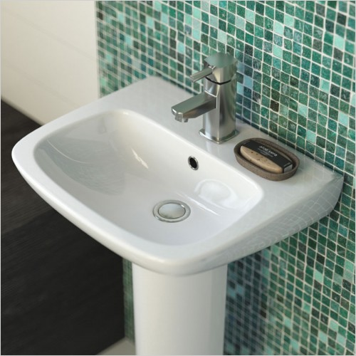 Park Street Bathrooms - Pool 500mm Basin & Semi Pedestal