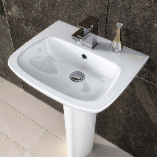Park Street Bathrooms - Pool 500mm Basin & Pedestal