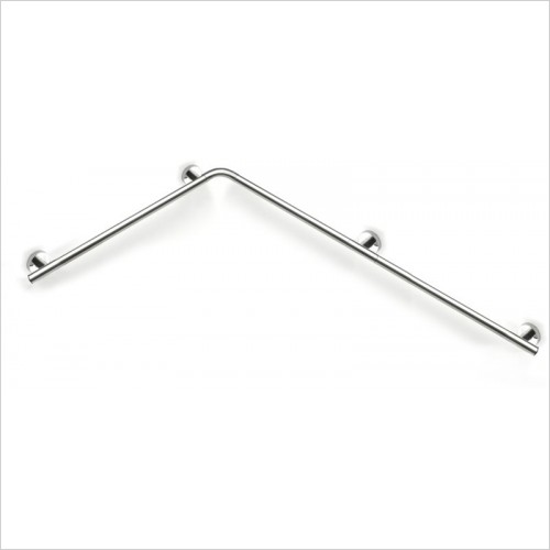 Lakes Bathrooms - Series 400 Steel SG Double Shower Handrail 650 x 1125mm