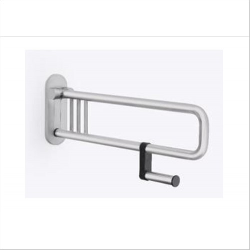 Lakes Bathrooms - Series 400 Steel SG Folding Handle With Paper Holder 750mm