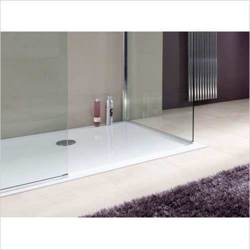 Lakes Bathrooms - Low Profile Stone Resin Rectangular Tray 800 x 700mm