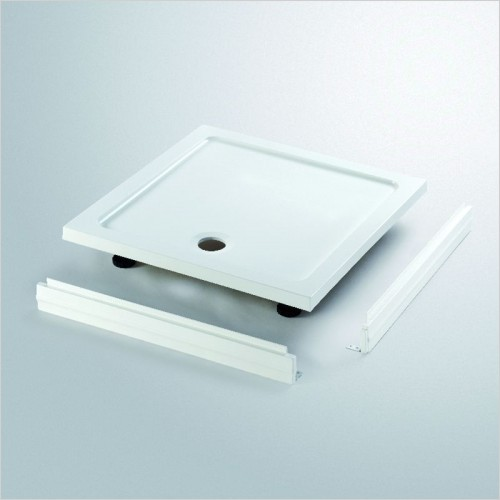 Lakes Bathrooms - Low Profile Stone Resin Square Tray 760 x 760mm