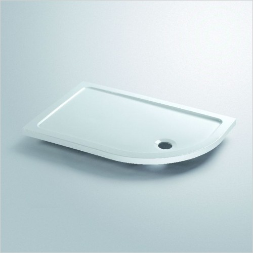 Lakes Bathrooms - Contemporary Lightweight Offset Quadrant Tray 900 x 760mm LH