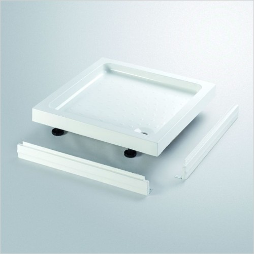 Lakes Bathrooms - Standard Height Stone Resin Square Tray 700 x 700mm