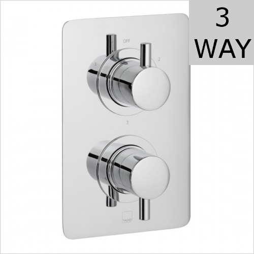 Vado - Celsius DX Square 3 Outlet Shower Valve