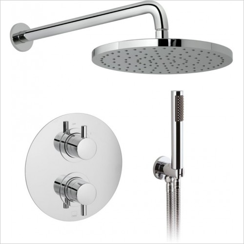 Vado - DX Celsius 2 Way Shower Package With Round Backplate