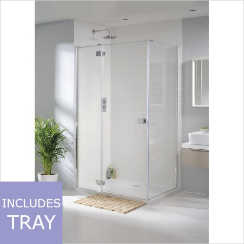 Art Of Living - Frameless 8mm Hinged Door, Panel & Tray 760 x 760mm