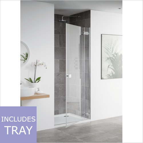Art Of Living - Frameless 8mm Hinged Door & Tray 760 x 760mm