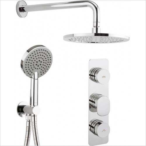 Crosswater - Dial Thermostatic Shower Valve 2 Control With Pier Trim