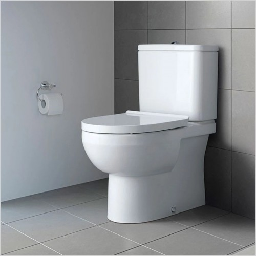 Duravit - DuraStyle Basic Close Coupled Closed Back WC Rimless