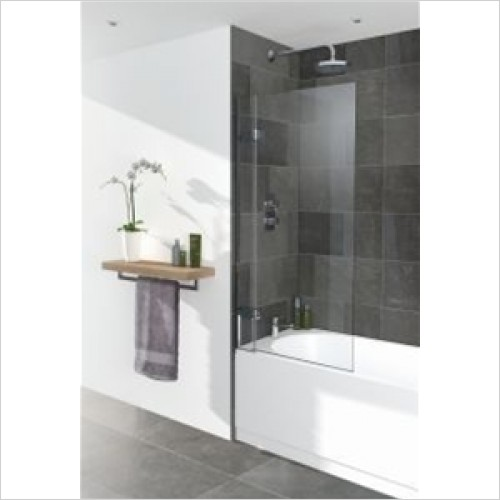 Lakes Bathrooms - 8mm Hinged Bathscreen 800mm