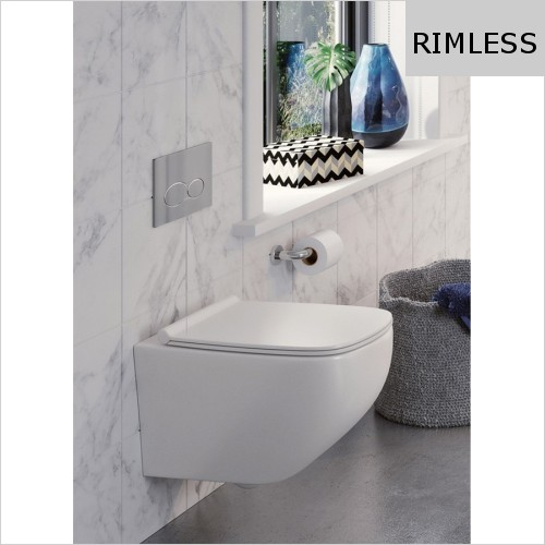 Crosswater - Infinity Wall Hung Pan Rimless 500mm