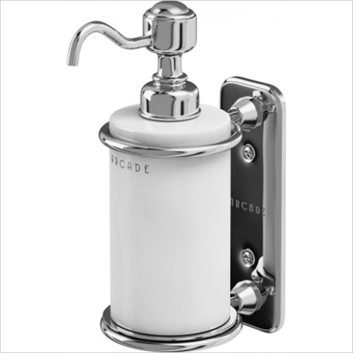 Arcade - Wall Mounted Single Soap Dispenser Ceramic