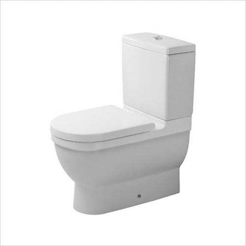 Duravit - Starck 3 Toilet Close Coupled Back To Wall
