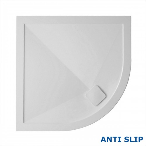 Crosswater - 25mm Kai Anti Slip Quadrant Shower Tray 900 x 900mm