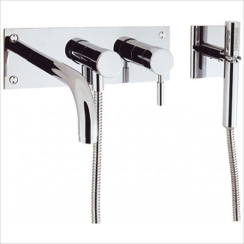Crosswater - Design Wall Mounted Bath 3 Hole Set With Kit