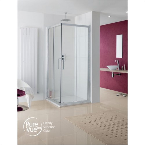 Lakes Bathrooms - Malmo Corner Entry Shower Enclosure Door 700mm