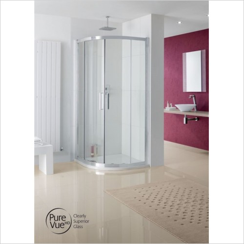 Lakes Bathrooms - Valmiera Offset Quadrant Shower Enclosure 900 x 800mm