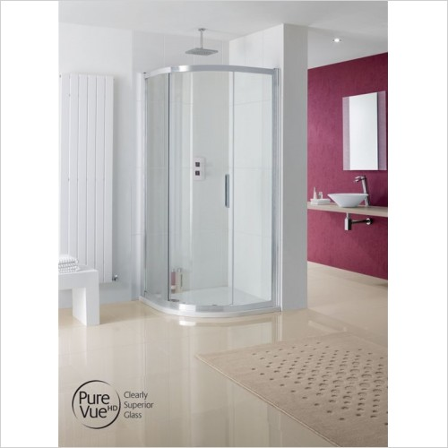 Lakes Bathrooms - Sorong Offset Quadrant Shower Enclosure 900 x 760mm